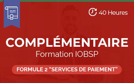 complementaire formation iobsp formule 2 credit immobilier services de paiement