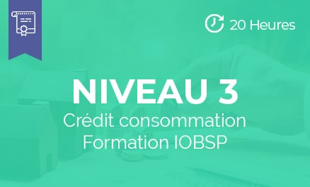 niveau 3 formation iobsp credit consommation